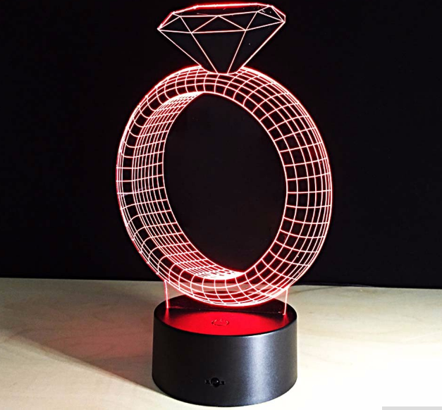 3D LED lampa RING