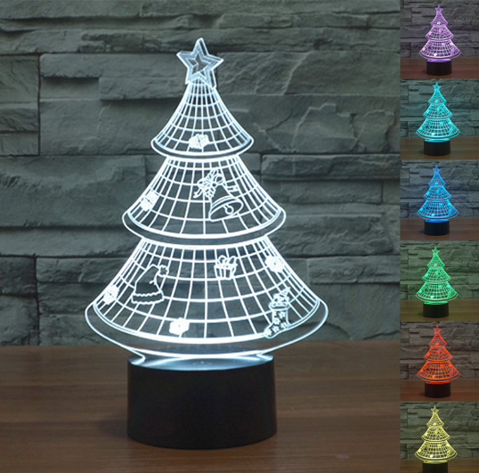 3D LED lampa CHRISTMAS TREE