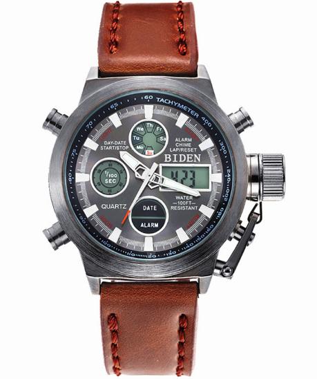 0dc72f20838 Pánské hodinky MILITARY Biden LED